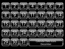Icono del calendario fijado - diciembre Foto de archivo libre de regalías