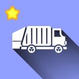 Icono del camión de basura Fotografía de archivo