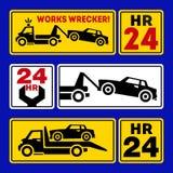 Icono del camión de remolque del coche Fotos de archivo libres de regalías