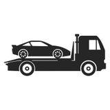 Icono del camión de remolque del coche Foto de archivo libre de regalías
