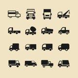 Icono del camión fijado para el sitio web o el app ilustración del vector