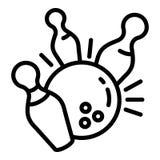 Icono del campeón que rueda, estilo del esquema ilustración del vector