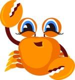 Icono del cangrejo historieta Fotografía de archivo libre de regalías