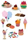 Icono del caramelo de la historieta Fotos de archivo