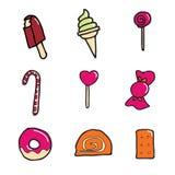 Icono del caramelo y del postre Fotografía de archivo
