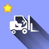 Icono del cargador del apilador Fotos de archivo