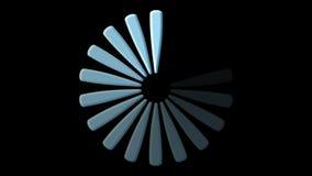 Icono del cargamento del ordenador en negro almacen de metraje de vídeo