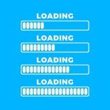 Icono del cargamento Icono aislado, diseño mínimo de la barra de progreso Vector illustrationern, fondo del ejemplo foto de archivo