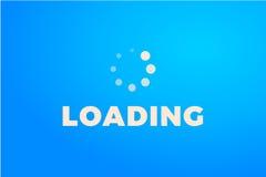 Icono del cargamento Icono aislado, diseño mínimo de la barra de progreso Vector illustrationern, fondo del ejemplo fotografía de archivo