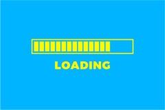 Icono del cargamento Icono aislado, diseño mínimo de la barra de progreso Vector illustrationern, fondo del ejemplo del vector foto de archivo libre de regalías