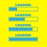 Icono del cargamento Icono de la barra de progreso, diseño mínimo Vector illustrationern, fondo del ejemplo del vector Fotos de archivo