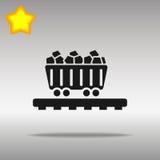 Icono del carro del carbón Fotos de archivo libres de regalías