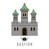 Icono del castillo Imagen de archivo libre de regalías