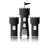 Icono del castillo aislado,  Foto de archivo