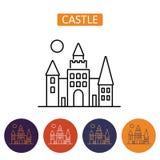 Icono del castillo de Drácula s Imagen de archivo