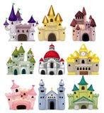 Icono del castillo del cuento de hadas de la historieta Imagen de archivo libre de regalías