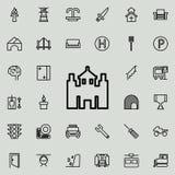 Icono del castillo Sistema detallado de la línea minimalistic iconos Diseño gráfico superior Uno de los iconos de la colección pa ilustración del vector
