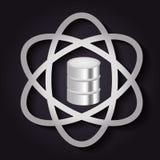 Icono del centro de datos y del átomo Diseño de la tecnología Gráfico de vector Fotografía de archivo