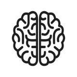 Icono del cerebro humano - vector ilustración del vector