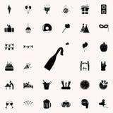 icono del champán de la abertura Vaya de fiesta el sistema universal de los iconos para el web y el móvil libre illustration