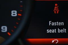 Icono del cinturón de seguridad Imagenes de archivo