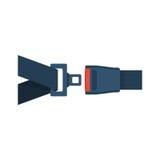 Icono del cinturón de seguridad aislado Imagen de archivo libre de regalías