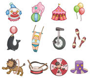 Icono del circo de la historieta Imagenes de archivo
