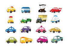 Icono del coche de la historieta Fotografía de archivo