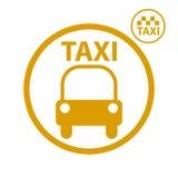Icono del coche del taxi Imagenes de archivo