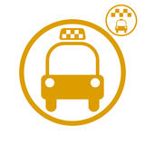 Icono del coche del taxi Fotografía de archivo