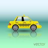 Icono del coche del taxi Imágenes de archivo libres de regalías