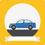 Icono del coche del vector Imagen de archivo