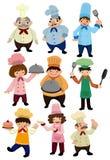 Icono del cocinero de la historieta Imagen de archivo libre de regalías