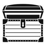 Icono del cofre del tesoro, estilo simple ilustración del vector