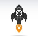 Icono del cohete del lápiz Ilustración del vector libre illustration