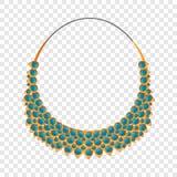 Icono del collar de la moda, estilo de la historieta stock de ilustración