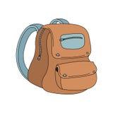 Icono del color de la mochila de la escuela Imágenes de archivo libres de regalías