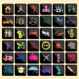 Icono del color del seguro Fotos de archivo