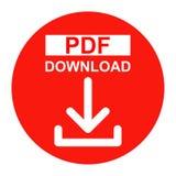 Icono del color rojo del botón de la transferencia directa del archivo PDF del vector ilustración del vector