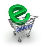 Icono del comercio electrónico 3D Imágenes de archivo libres de regalías