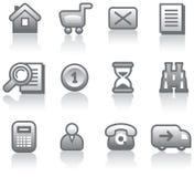 Icono del comercio electrónico fijado (vector) Foto de archivo
