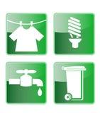 Icono del compartimiento de basura del golpecito del bulbo del lavadero Imagenes de archivo