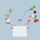 Icono del concepto de diseño para la comida Imagen de archivo libre de regalías