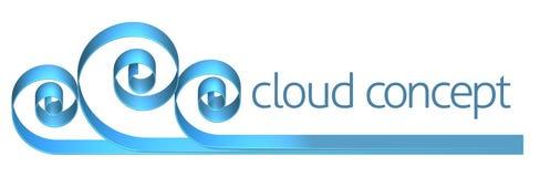 Icono del concepto de Internet de la nube Fotografía de archivo
