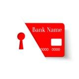Icono del concepto de la protección de la tarjeta de crédito Fotos de archivo