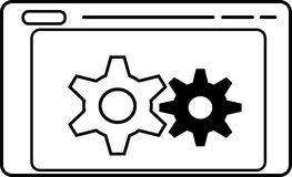 Icono del concepto de mantenimiento del sitio web Fotografía de archivo