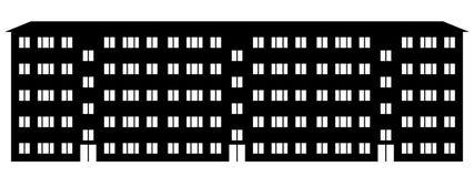 Icono del condominio stock de ilustración