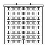 Icono del condominio ilustración del vector