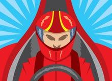 Icono del conductor de coche de carreras Fotos de archivo libres de regalías