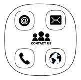 Icono del contacto Imagen de archivo